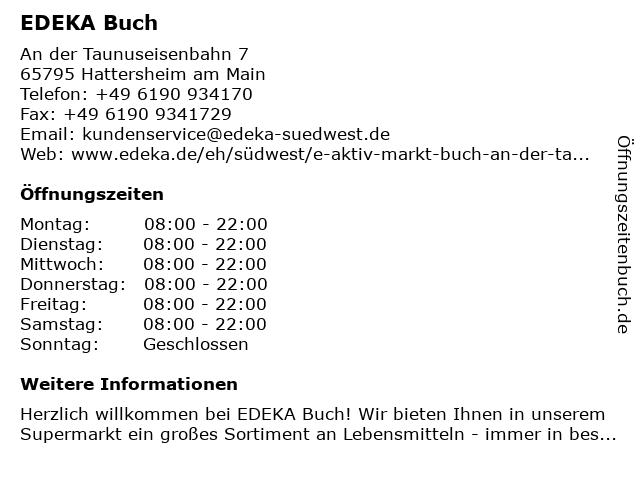 E aktiv markt Buch in Hattersheim: Adresse und Öffnungszeiten