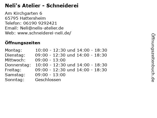 Neli's Atelier - Schneiderei in Hattersheim: Adresse und Öffnungszeiten