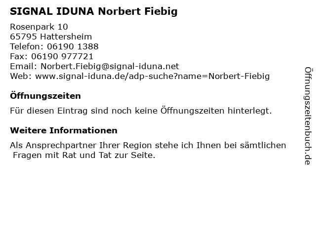 SIGNAL IDUNA Norbert Fiebig in Hattersheim: Adresse und Öffnungszeiten