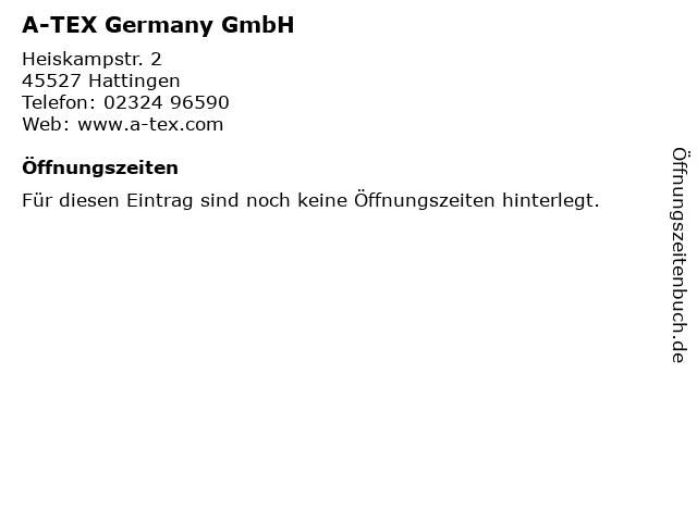 A-TEX Germany GmbH in Hattingen: Adresse und Öffnungszeiten