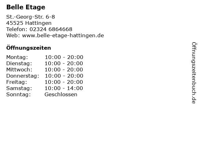 Belle Etage in Hattingen: Adresse und Öffnungszeiten