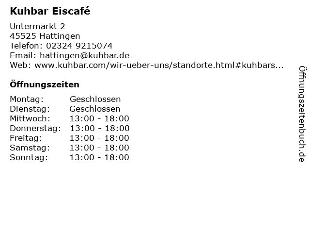 Kuhbar in Hattingen: Adresse und Öffnungszeiten