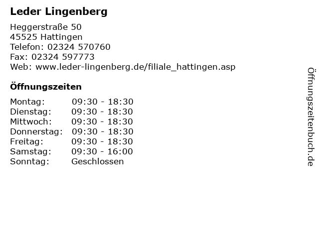 Leder Lingenberg in Hattingen: Adresse und Öffnungszeiten