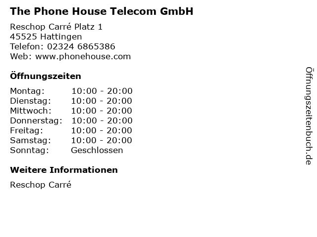 The Phone House Telecom GmbH in Hattingen: Adresse und Öffnungszeiten