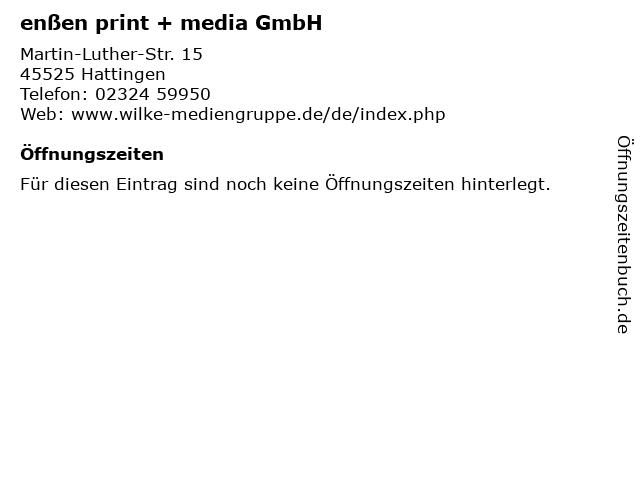 enßen print + media GmbH in Hattingen: Adresse und Öffnungszeiten