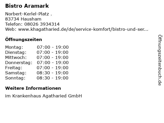 Bistro Aramark in Hausham: Adresse und Öffnungszeiten