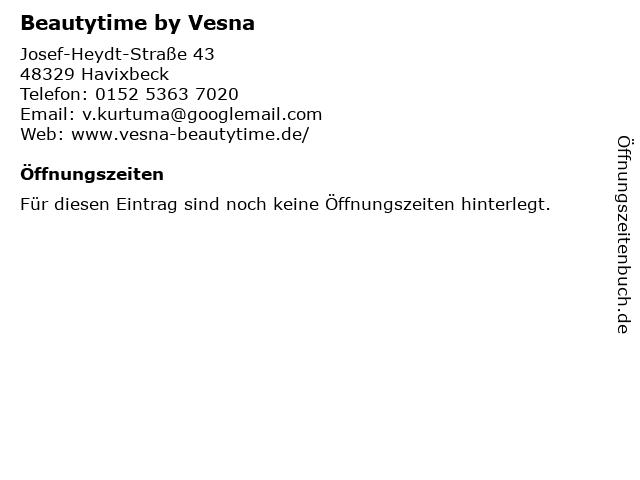 Beautytime by Vesna in Havixbeck: Adresse und Öffnungszeiten