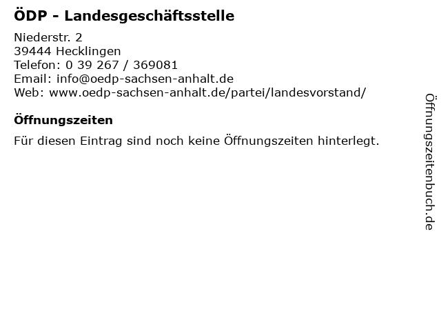 ÖDP - Landesgeschäftsstelle in Hecklingen: Adresse und Öffnungszeiten