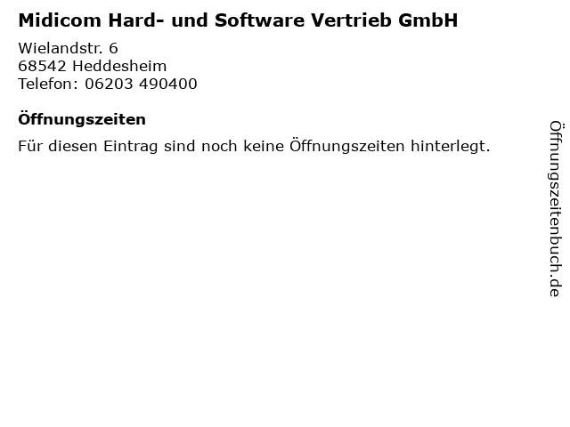Midicom Hard- und Software Vertrieb GmbH in Heddesheim: Adresse und Öffnungszeiten