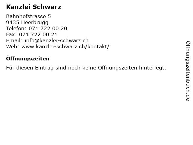 Kanzlei Schwarz in Heerbrugg: Adresse und Öffnungszeiten