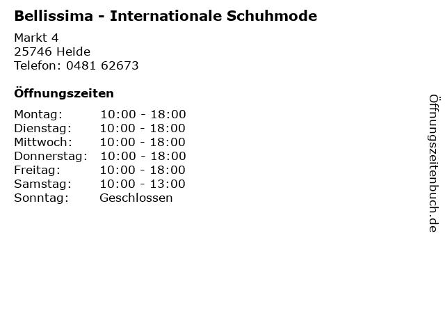 Bellissima - Internationale Schuhmode in Heide: Adresse und Öffnungszeiten