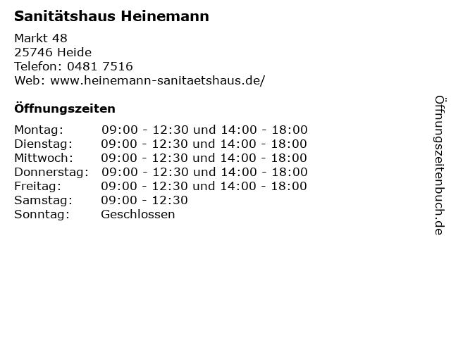 Sanitätshaus Heinemann in Heide: Adresse und Öffnungszeiten