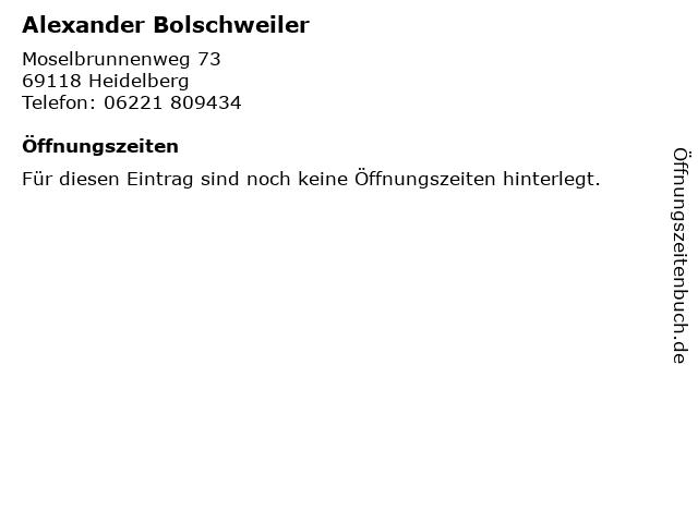 Alexander Bolschweiler in Heidelberg: Adresse und Öffnungszeiten