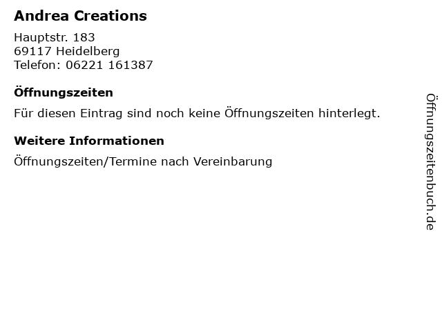 Andrea Creations in Heidelberg: Adresse und Öffnungszeiten