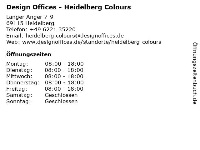 Design Offices - Heidelberg Colours in Heidelberg: Adresse und Öffnungszeiten