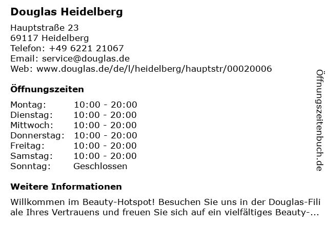 Douglas Heidelberg in Heidelberg: Adresse und Öffnungszeiten