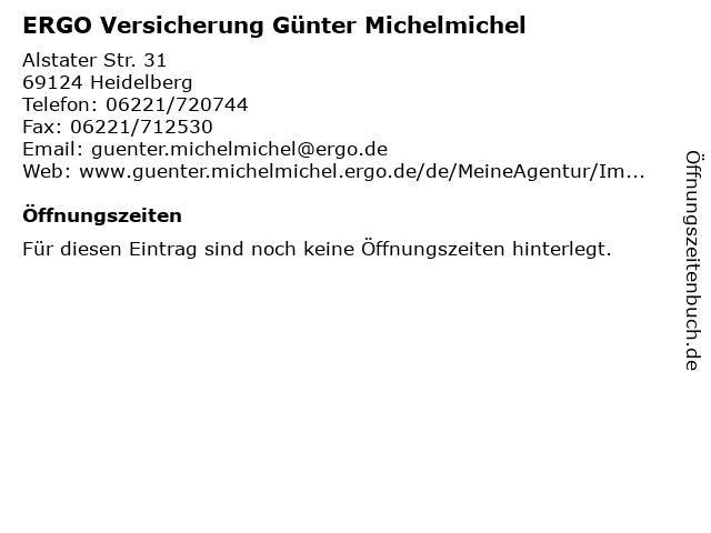 ERGO Versicherung Günter Michelmichel in Heidelberg: Adresse und Öffnungszeiten