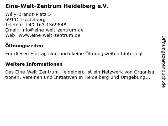 Eine-Welt-Zentrum Heidelberg e.V. in Heidelberg: Adresse und Öffnungszeiten