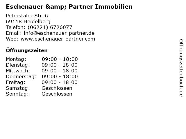 Eschenauer & Partner Immobilien in Heidelberg: Adresse und Öffnungszeiten