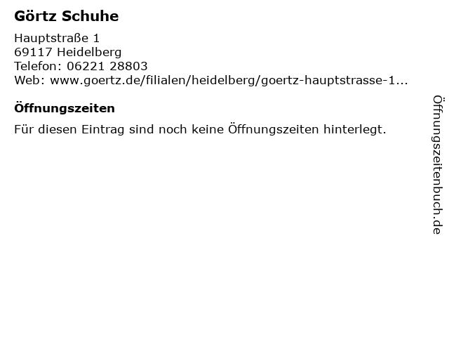 Görtz Schuhe in Heidelberg: Adresse und Öffnungszeiten