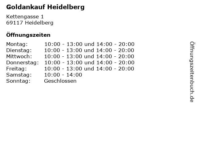 Goldankauf Heidelberg in Heidelberg: Adresse und Öffnungszeiten