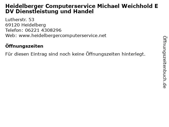 Heidelberger Computerservice Michael Weichhold EDV Dienstleistung und Handel in Heidelberg: Adresse und Öffnungszeiten