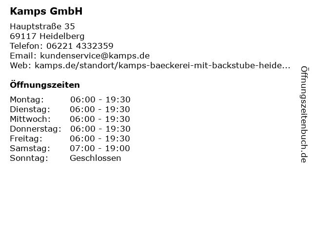 Kamps GmbH in Heidelberg: Adresse und Öffnungszeiten