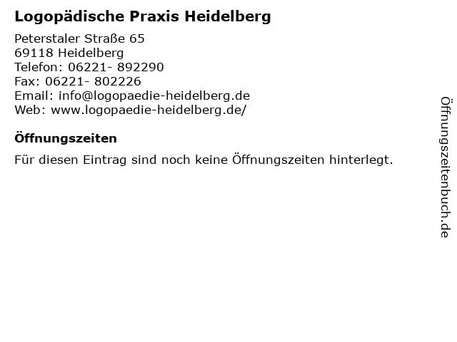 Logopädische Praxis Heidelberg in Heidelberg: Adresse und Öffnungszeiten