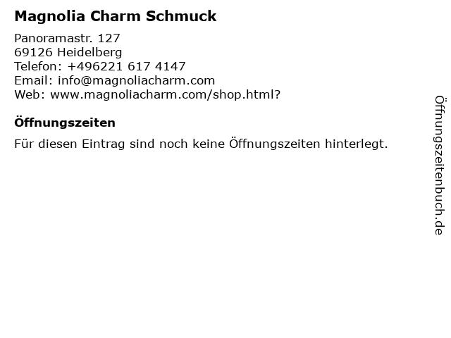 Magnolia Charm Schmuck in Heidelberg: Adresse und Öffnungszeiten