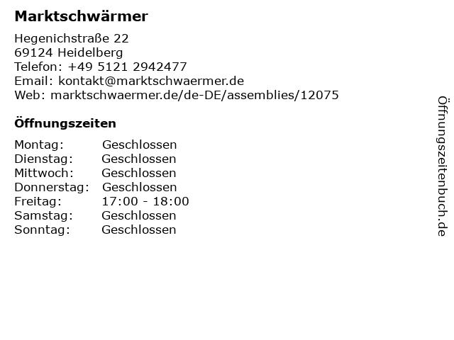 Marktschwärmer in Heidelberg: Adresse und Öffnungszeiten