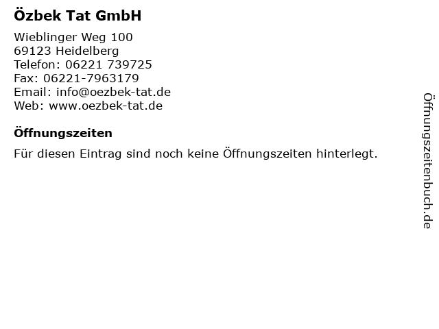 Özbek Tat GmbH in Heidelberg: Adresse und Öffnungszeiten
