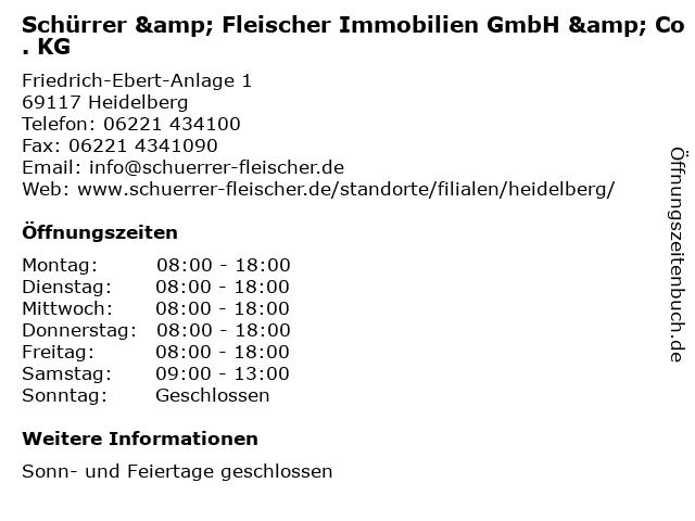 Schürrer & Fleischer Immobilien GmbH & Co. KG in Heidelberg: Adresse und Öffnungszeiten