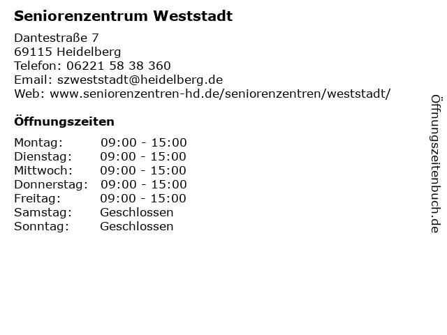 Seniorenzentrum Weststadt in Heidelberg: Adresse und Öffnungszeiten