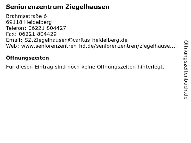 Seniorenzentrum Ziegelhausen in Heidelberg: Adresse und Öffnungszeiten