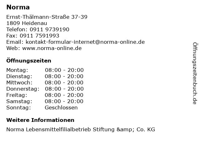 Norma in Heidenau: Adresse und Öffnungszeiten