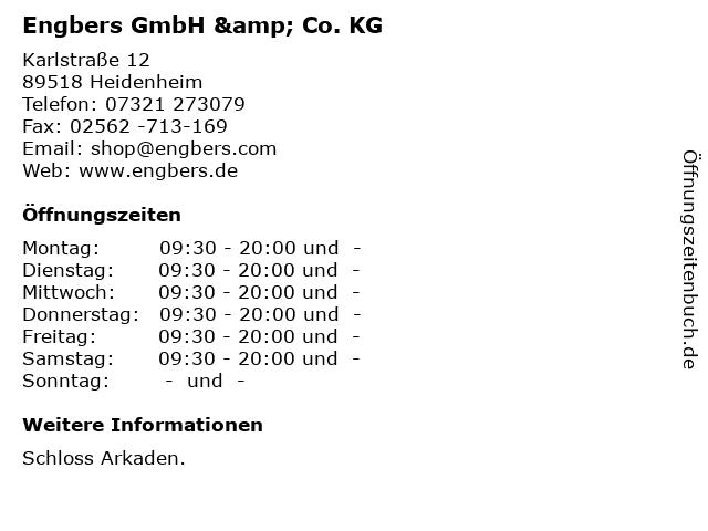 Engbers GmbH & Co. KG in Heidenheim: Adresse und Öffnungszeiten