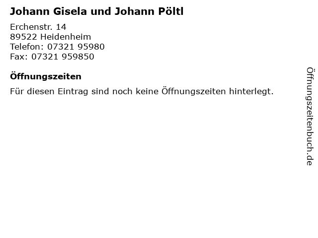 Johann Gisela und Johann Pöltl in Heidenheim: Adresse und Öffnungszeiten