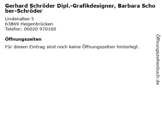 Gerhard Schröder Dipl.-Grafikdesigner, Barbara Schober-Schröder in Heigenbrücken: Adresse und Öffnungszeiten