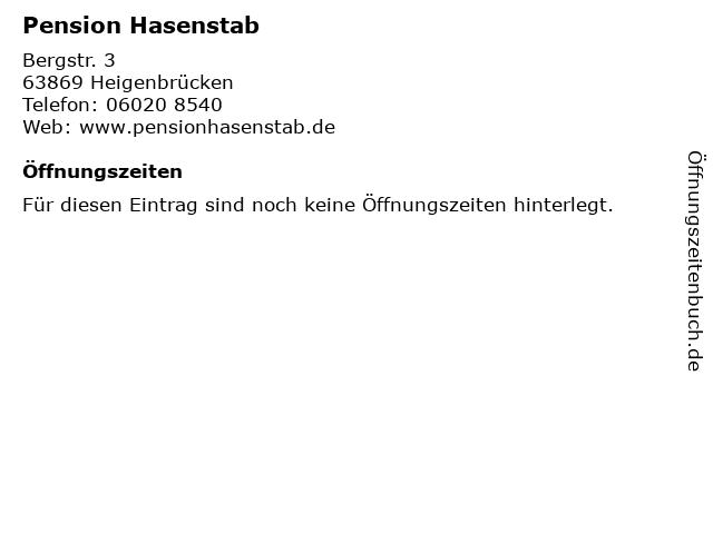 Pension Hasenstab in Heigenbrücken: Adresse und Öffnungszeiten