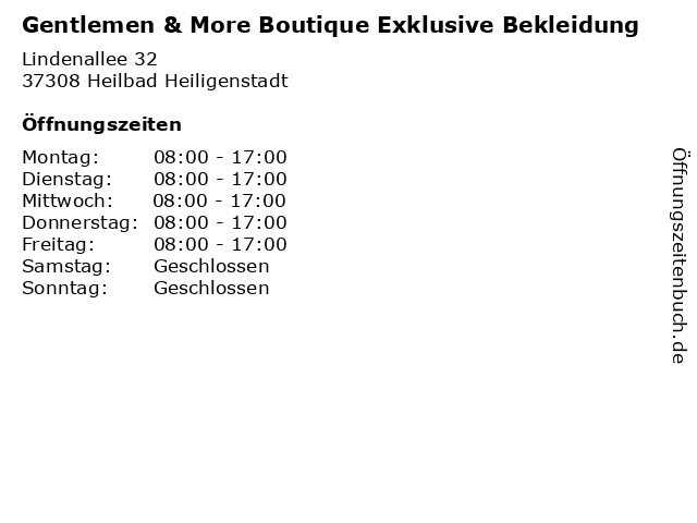 ᐅ öffnungszeiten Gentlemen More Boutique Exklusive Bekleidung
