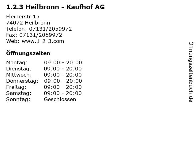 galeria (kaufhof) heilbronn fleiner straße heilbronn