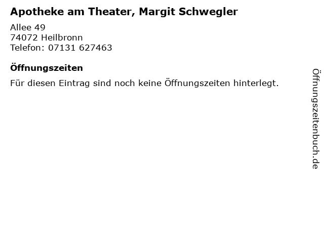 Apotheke am Theater, Margit Schwegler in Heilbronn: Adresse und Öffnungszeiten