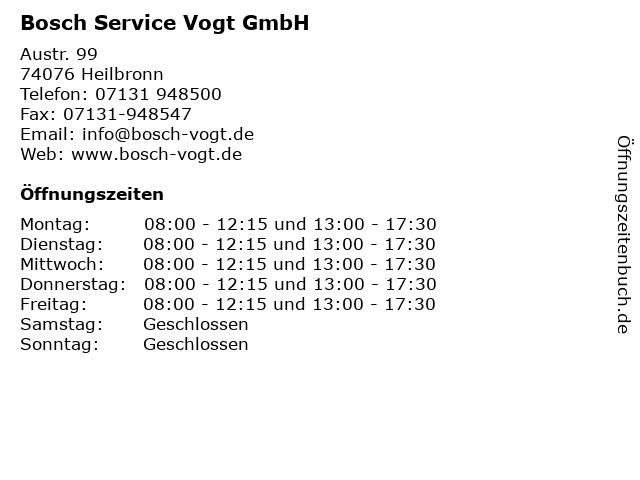 Bosch Car Service in Heilbronn: Adresse und Öffnungszeiten