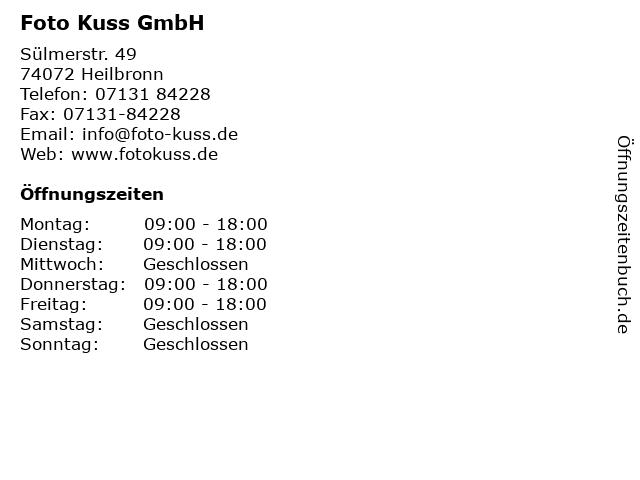 Foto Kuss GmbH in Heilbronn: Adresse und Öffnungszeiten