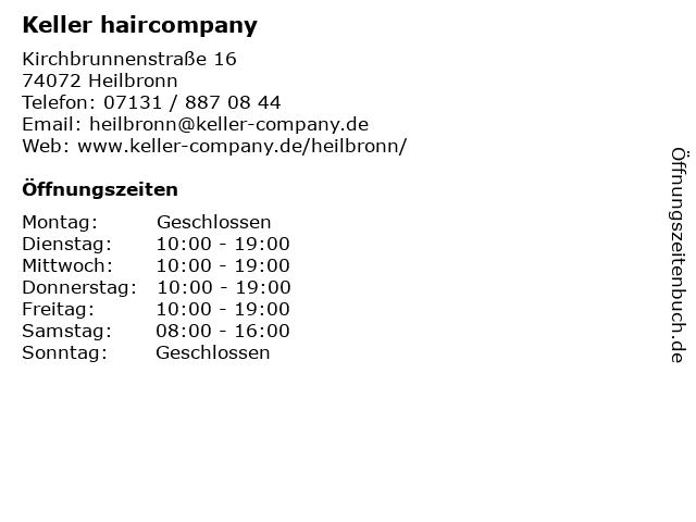 Keller haircompany in Heilbronn: Adresse und Öffnungszeiten