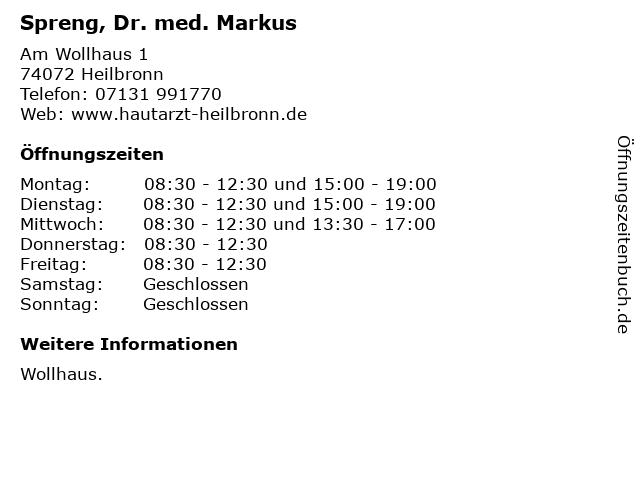 Spreng, Dr. med. Markus in Heilbronn: Adresse und Öffnungszeiten