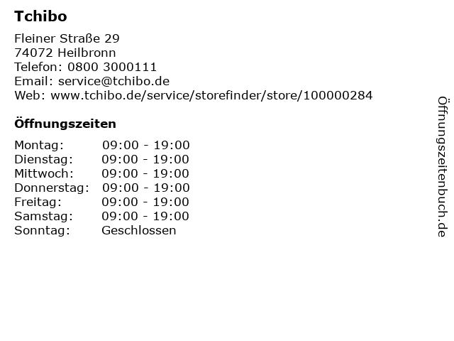 Tchibo Filiale mit Kaffee Bar in Heilbronn: Adresse und Öffnungszeiten