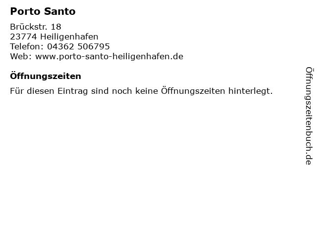 Porto Santo in Heiligenhafen: Adresse und Öffnungszeiten