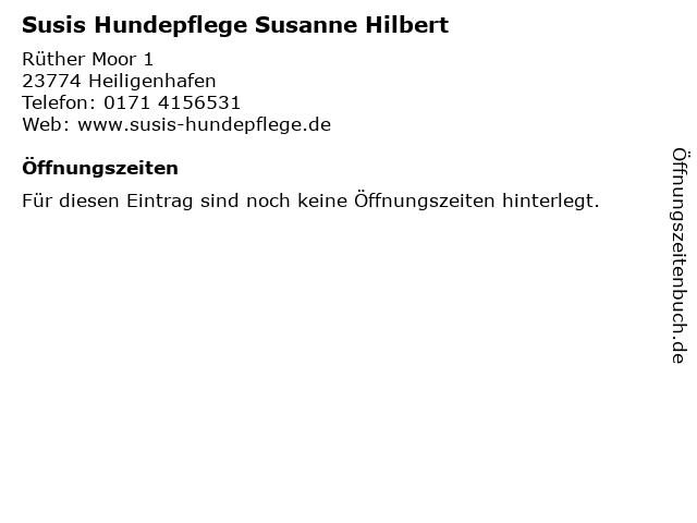 Susis Hundepflege Susanne Hilbert in Heiligenhafen: Adresse und Öffnungszeiten