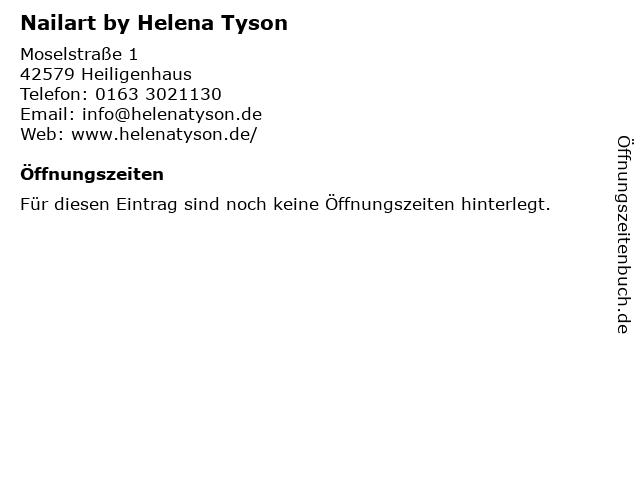 Nailart by Helena Tyson in Heiligenhaus: Adresse und Öffnungszeiten